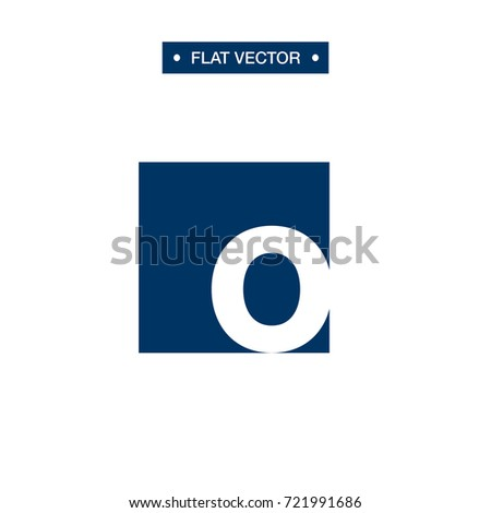 o letter box logo vector template stock vector royalty free