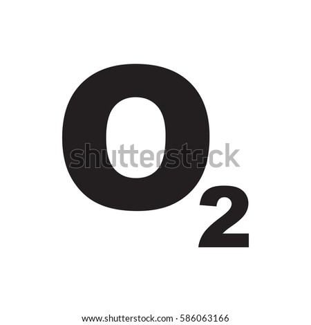 O 2 Oxygen Icon Illustration Isolated Vector Stock Vector 2018