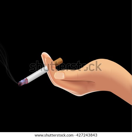 o tobacco day sign and symbol with dark background. vector