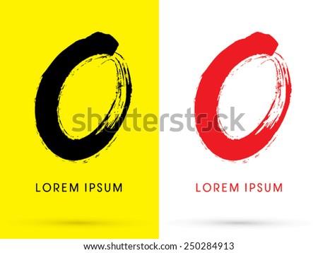 OZero Chinese Brush Grunge Font Designed Using Black And Red Handwriting