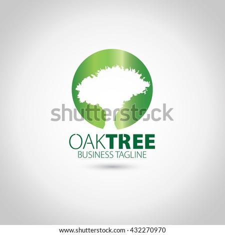Oak Tree Logo Stock Vector 432270970 - Shutterstock