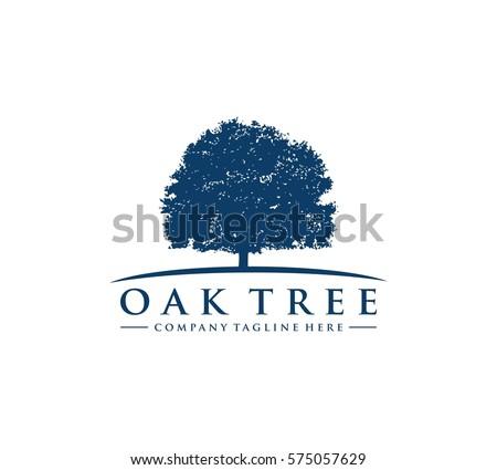 Oak Tree Logo Stock Vector 575057629