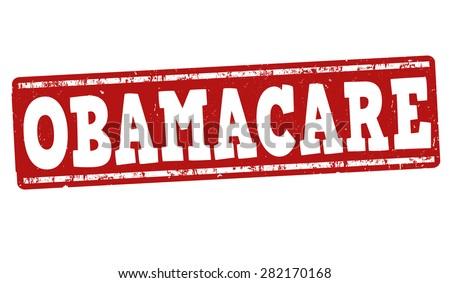 Obamacare grunge rubber stamp on white background, vector illustration - stock vector