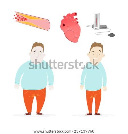 Obesity - stock vector