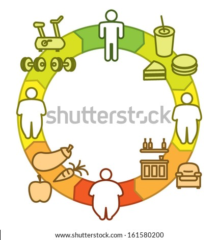 Obesity Cycle - stock vector