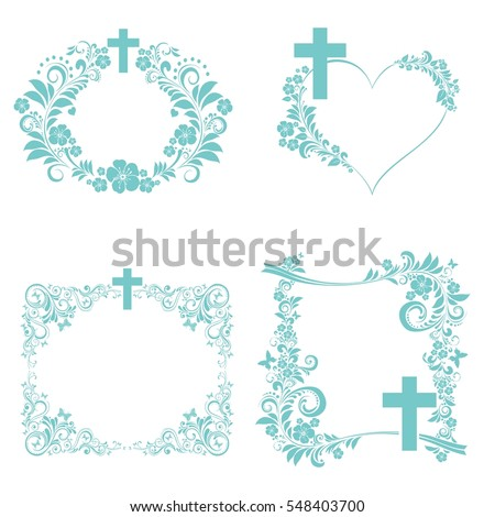 Obituary Notice Art Deco Frames Cross Stock Vector (2018) 548403700 ...