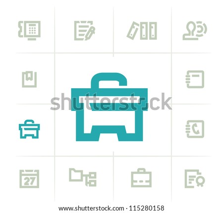Objects Icons - stock vector