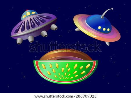 objects. space plates.cosmos.vector