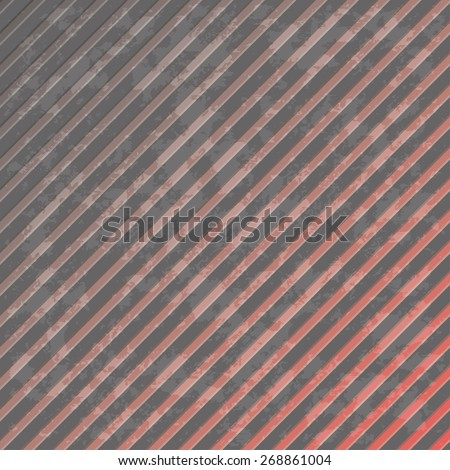 Oblique lines gray with a red, background - stock vector