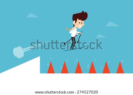 Obstacle - stock vector
