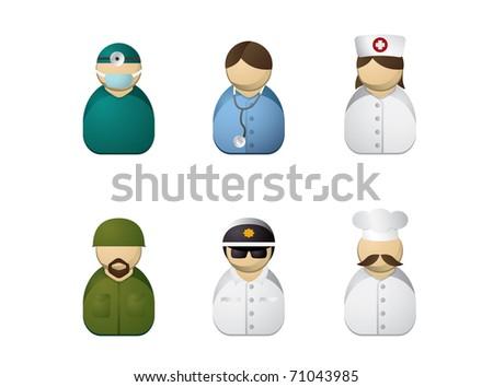 Occupation avatars - stock vector