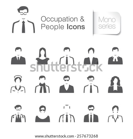 Occupation & people related icons. - stock vector