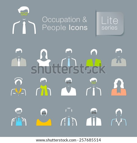 Occupation & people related icons - stock vector