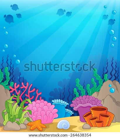Ocean underwater theme background 4 - eps10 vector illustration. - stock vector