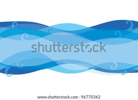 Ocean vector background - stock vector