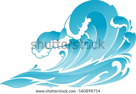 Ocean Wave Isolated Illustration