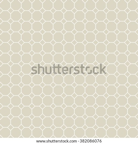 Octagon Grid Designvector Seamless Pattern Stock Vector