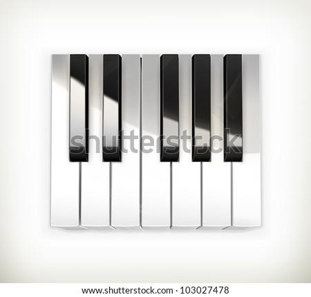 Octave, piano keys vector - stock vector