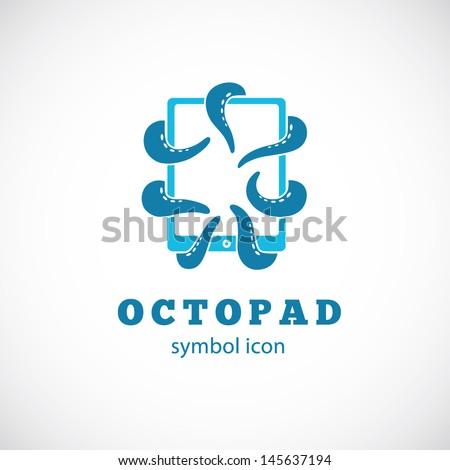 Octo Pad Symbol Icon or Logo Template - stock vector