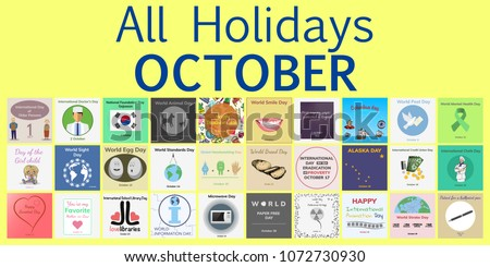 October all holidays greeting cards vector stock vector 1072730930 all holidays greeting cards vector template pack m4hsunfo