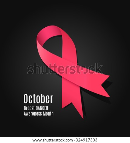 October - Breast Cancer Awareness Month - vector illustration