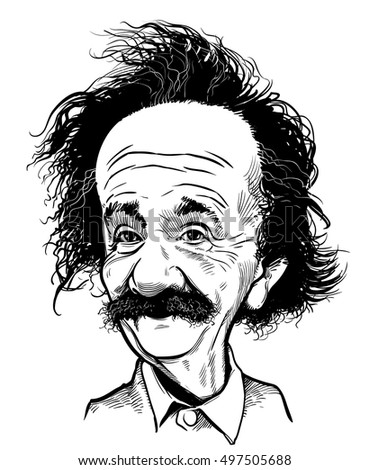 October 12, 2016: Portrait of Albert Einstein. vector illustration