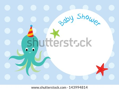 octopus baby shower