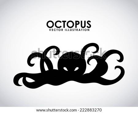 octopus graphic design , vector illustration - stock vector