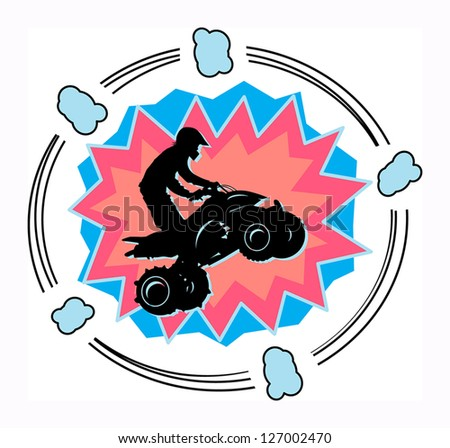 Off-road abstract background, vector illustration - stock vector
