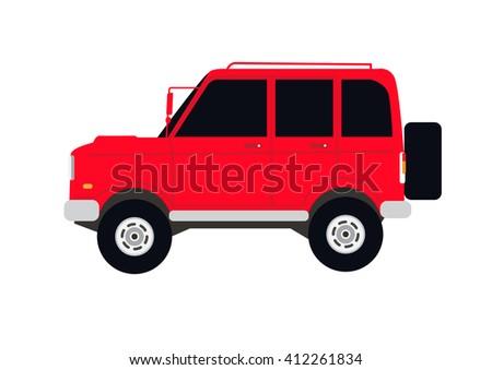 Off-road car.Vector Illustration - stock vector