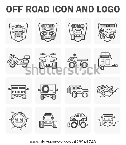 Off-road vehicle icon and logo vector design. - stock vector