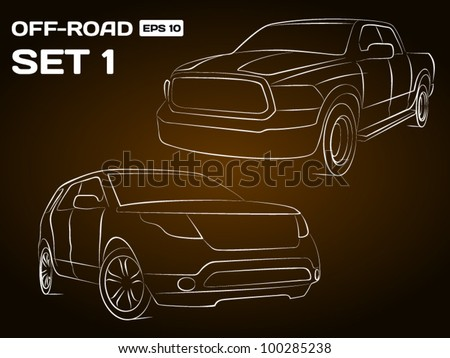 Off-Road Vehicle Silhouettes - stock vector