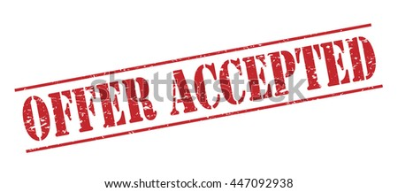 offer accepted vector stamp on white background - stock vector