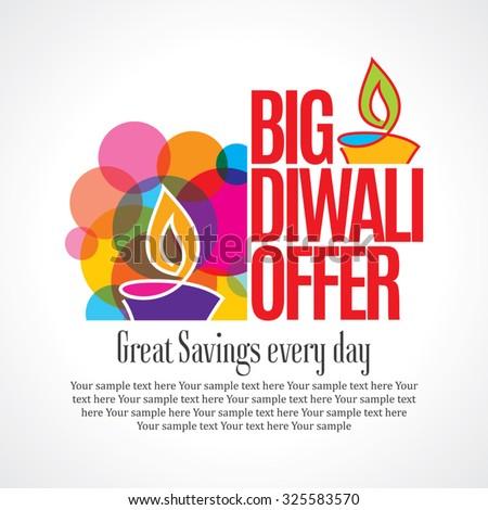 Offer poster, banner or flyer design, occasion of festival celebrations. - stock vector