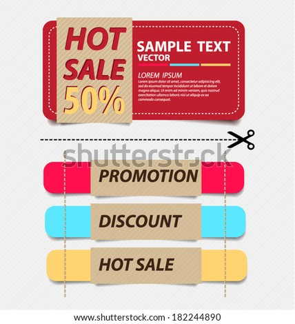 offers and promotions. vector template. - stock vector