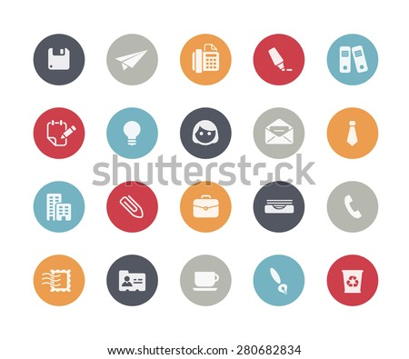 Office and Business Icons // Classics Series - stock vector