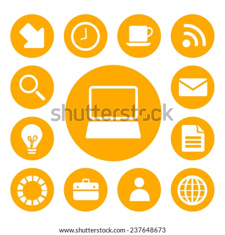 Office and Business Icons Set. Vector EPS10.