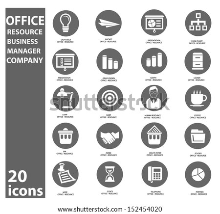 Office and business icons,vector - stock vector