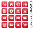 Office and business vector Icon Set for web and mobile. All elements are grouped. - stock vector