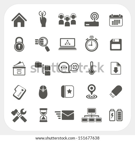 Office and Communication icons set - stock vector