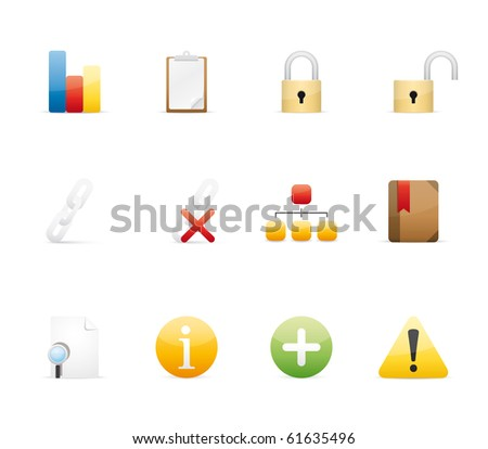 Office and Internet icon set13 - Glossy Series.  Vector EPS 8 format, easy to edit. - stock vector
