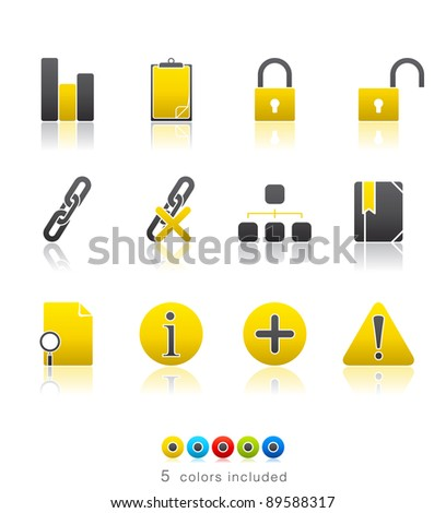 Office and Internet icon set13 – Multi Color Series.  Icon set in EPS 8 format with high resolution JPEG EPS file contains five color variations in different layers - stock vector