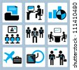 office and organization management icon set - stock vector