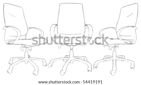 Office Armchair Vector 02 - stock vector