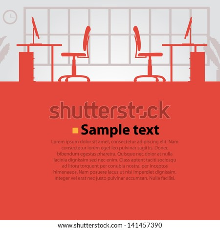 Office background - stock vector