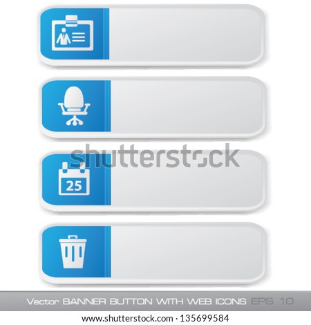 Office banner sign,blank for text,vector - stock vector