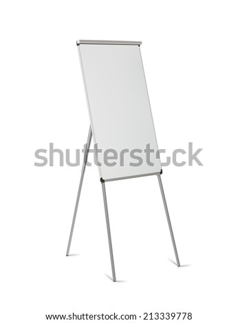 Office board standing isolated on white background,vector eps10 illustration - stock vector