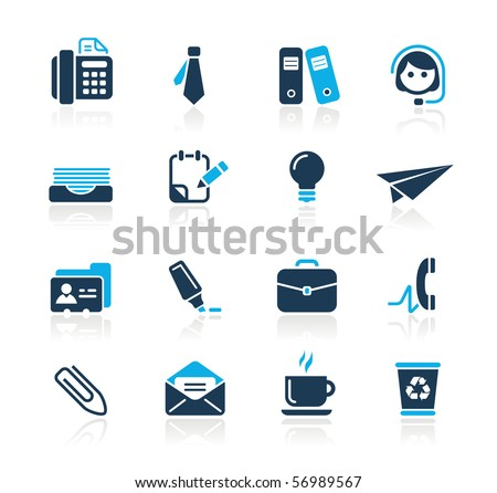 Office & Business // Azure Series - stock vector