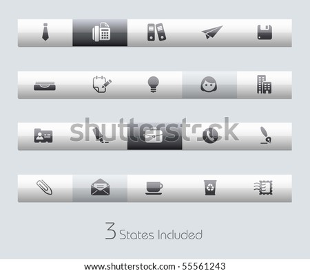 Office & Business // Classic Series +++ It includes 3 buttons states in different layers. +++ - stock vector