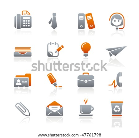 Office & Business Web Icons // Graphite Series - stock vector